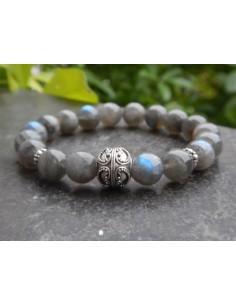 Bracelet en labradorite qualité supérieure perles 10 mm