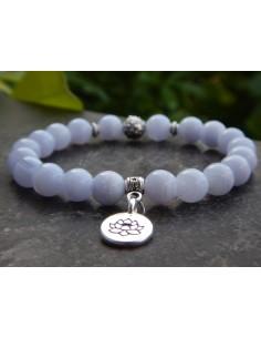 Bracelet en pierres naturelles de calcédoine