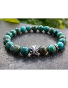 Bracelet de pierres naturelles de chrysocolle