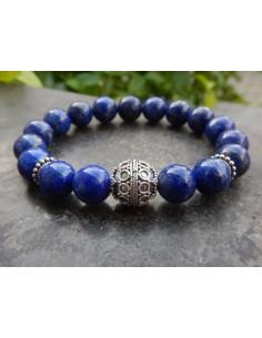 Bracelet en pierres naturelles de lapis lazuli