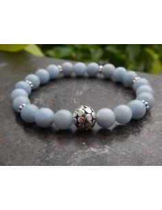 Bracelet en pierres naturelles d'angélite