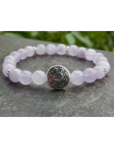 Bracelet en pierres naturelles d'améthyste lavande