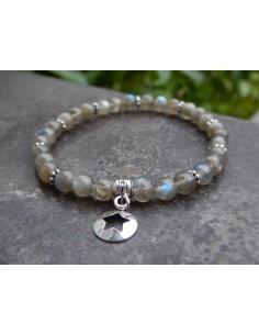 Bracelet en labradorite qualité supérieure, perles de 6 mm