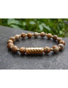 Bracelet en pierres naturelles de jaspe paysage