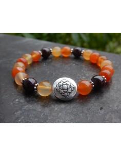 Bracelet Vitality en cornaline et grenat