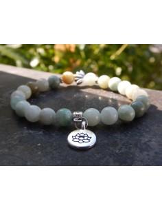 Bracelet en pierres naturelles de jade de Birmanie, perles de 8 mm