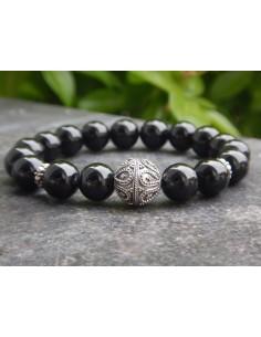 Bracelet en spinelle, perles de 10 mm
