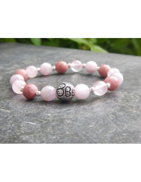 Bracelet chakra coeur ANAHATA perles 8 mm