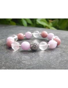 Bracelet chakra coeur ANAHATA, perles de 10 mm