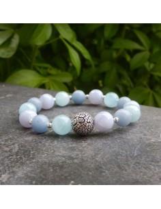 Bracelet chakra gorge Vishuddha, perles 10 mm