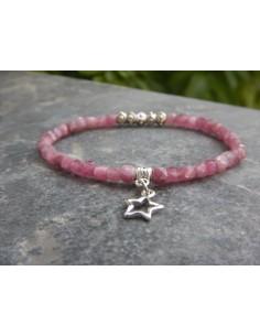 Bracelet en tourmaline rose