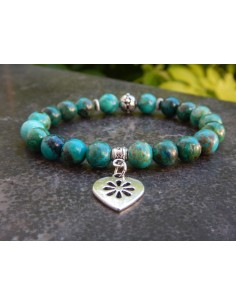 Bracelet en pierres naturelles de chrysocolle