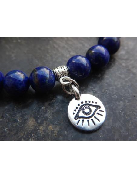 Bracelet en pierres naturelles de lapis-lazuli