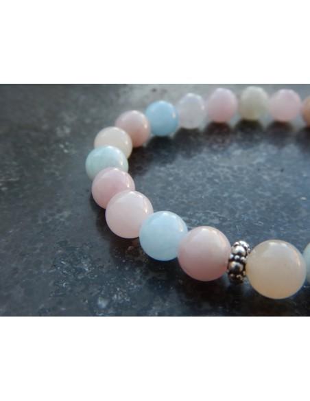 Bracelet en pierres naturelles de béryl