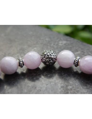 Bracelet en pierres naturelles de kunzite