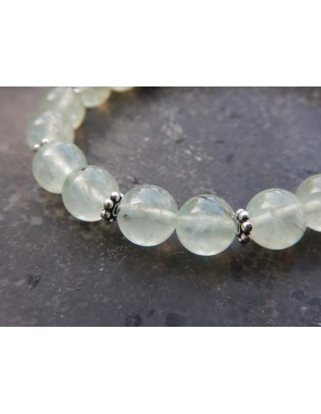 Bracelet en pierres naturelles de préhnite